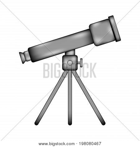 Telescope sign icon on white background. Vector illustration.
