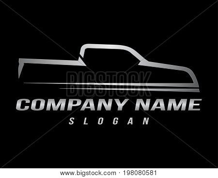 sport truck logo on a black background