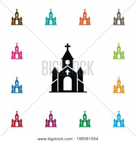 Steeple Vector Element Can Be Used For Steeple, Christian, Church Design Concept.  Isolated Church Icon.