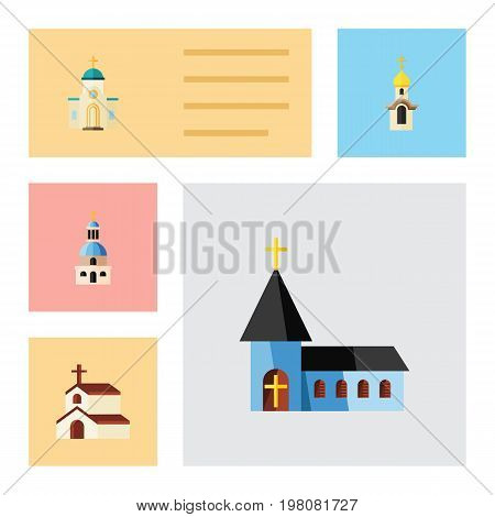 Flat Icon Christian Set Of Religious, Church, Christian And Other Vector Objects