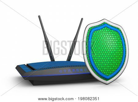 Shield And  Router