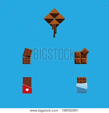 Flat Icon Bitter Set Of Chocolate, Wrapper, Bitter And Other Vector Objects