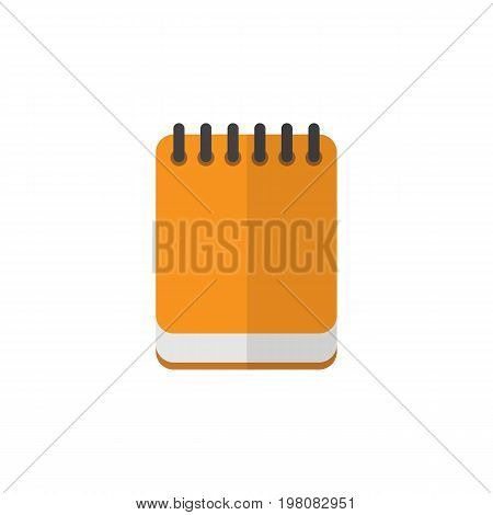 Notepaper Vector Element Can Be Used For Notepaper, Notepad, Memo Design Concept.  Isolated Notepad Flat Icon.