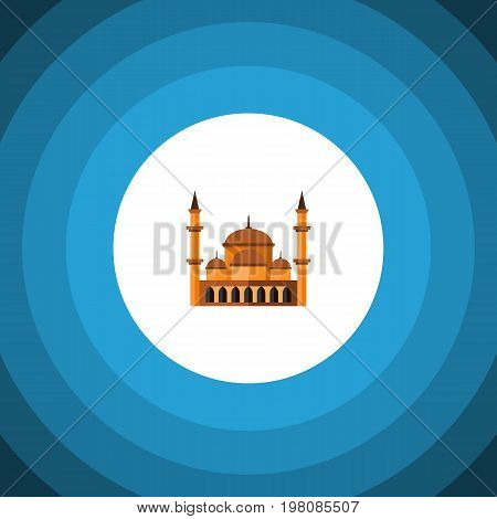 Mohammedanism Vector Element Can Be Used For Mohammedanism, Mosque, Architecture Design Concept.  Isolated Architecture Flat Icon.