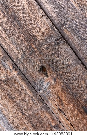 Old planks with a distinct wood structure. wood texture fissured