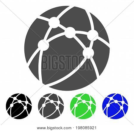 Browser flat vector pictogram. Colored browser, gray, black, blue, green icon versions. Flat icon style for graphic design.