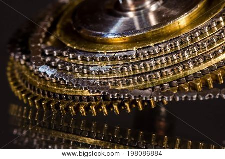 Watch Repair: Vintage Pocket Watch Fusee Chain Coiled Around the Fusee Cone