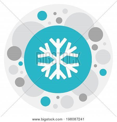 Vector Illustration Of Weather Symbol On Sleet Icon