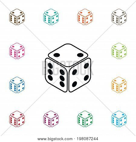 Cube Vector Element Can Be Used For Number, Dice, Cube Design Concept.  Isolated Number Icon.