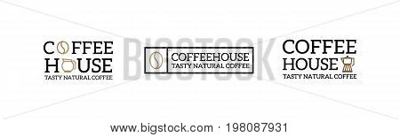set of coffee vintage logo and badge, label