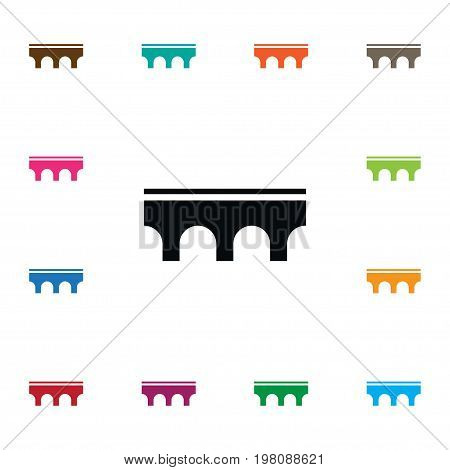 Architecture Vector Element Can Be Used For Golden, Gate, Architecture Design Concept.  Isolated Golden Gate Icon.