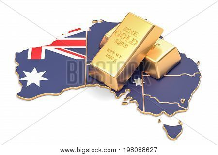 Foreign-exchange reserves of Australia concept 3D rendering isolated on white background