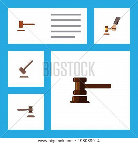 Flat Icon Lawyer Set Of Legal, Crime, Tribunal And Other Vector Objects