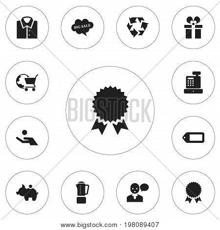 Set Of 12 Editable Trade Icons. Includes Symbols Such As Cloud With Text, Cash Collecting, International Trade And More