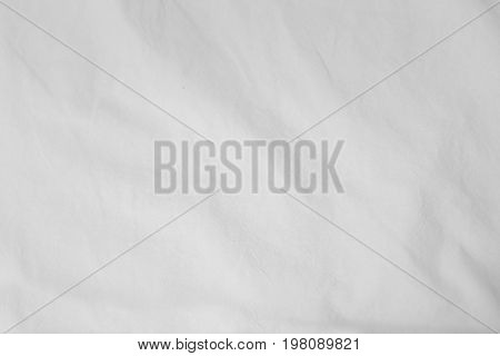 White Delicate Soft Background Of Fabric Or Bedding Sheet