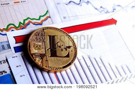 A Golden Litecoin On Graph And Diagrams