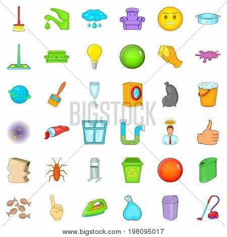 General cleaning icons set. Cartoon style of 36 general cleaning vector icons for web isolated on white background