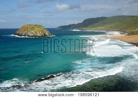 Lion beach in Fernando de Noronha, Brazil