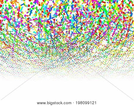 Colorful confetti pattern. Eps8. RGB Global colors