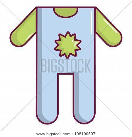 Baby boy clothes icon. Cartoon illustration of baby boy clothes vector icon for web design