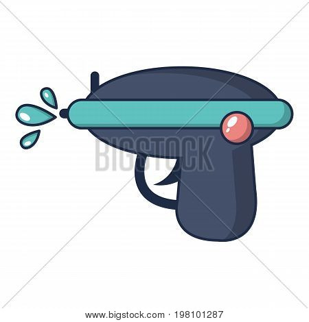 Water gun icon. Cartoon illustration of water gun vector icon for web design