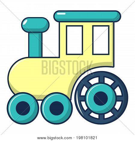 Children train for walks icon. Cartoon illustration of children train for walks vector icon for web design