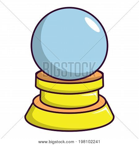 Magic crystal ball icon. Cartoon illustration of magic crystal ball vector icon for web design