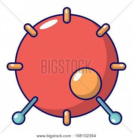 Drum icon. Cartoon illustration of drum vector icon for web design