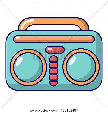 Vintage boombox icon. Cartoon illustration of vintage boombox vector icon for web design