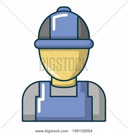 Auto car mechanic icon. Cartoon illustration of auto car mechanic vector icon for web design