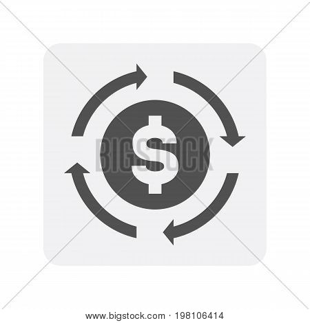 Creditworthiness icon with currency sign. Credit score symbol, financial history, commercial bank pictogram isolated vector illustration