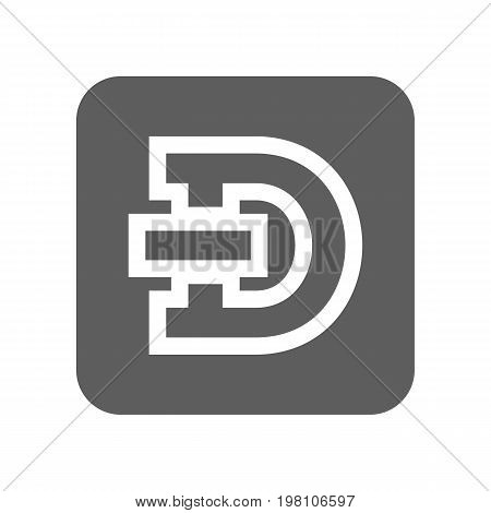 Dash crypto currency isolated icon. Online financial system, electronic money, worldwide payment service vector illustration.