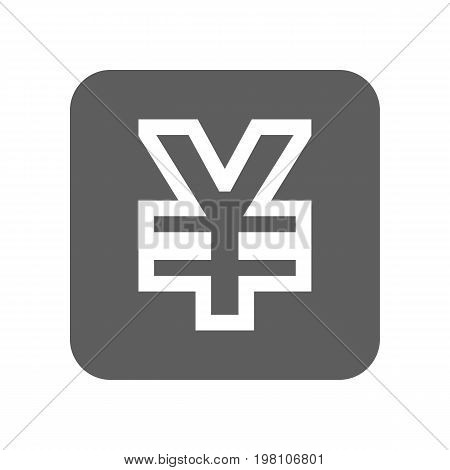 China yuan currency isolated icon. Online financial system, money symbol, worldwide payment service vector illustration.