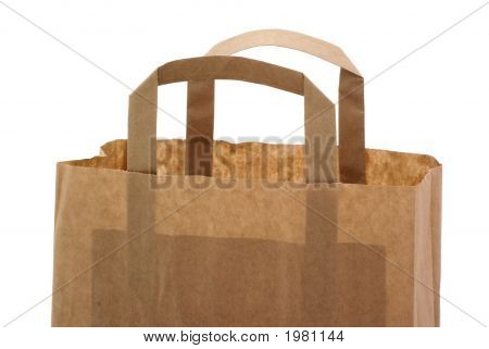 Part Of A Brown Paper Bag.
