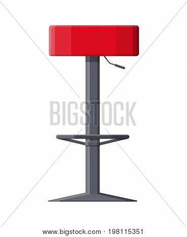Barstool chair. Pub club bar trendy equipment. Vector illustration in flat style