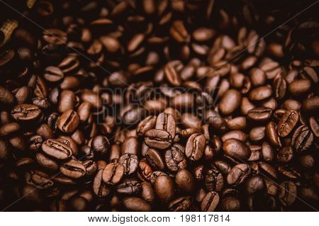 arabica brown rosted coffee beans dark aroma