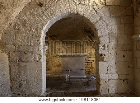 Romanesque Chapel of St. Peter in Montmajour Abbey near Arles France