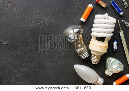 Hazardous Waste On A Black Background With Space For Text