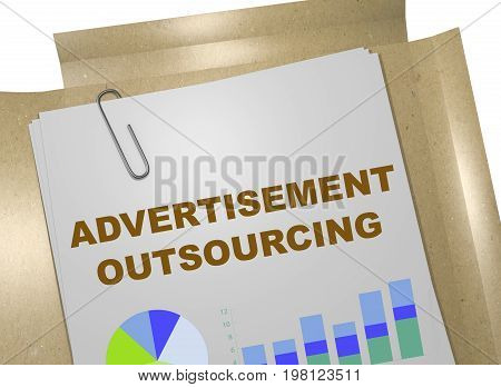 Advertisement Outsourcing Concept