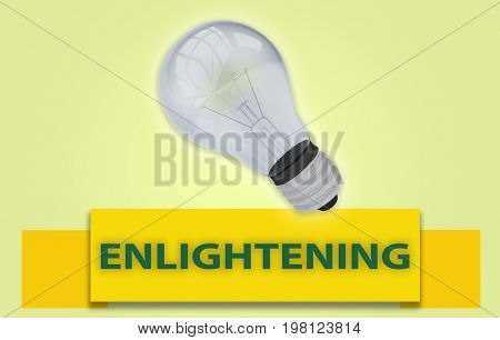 Enlightening Concept With Banner And Light Bulb