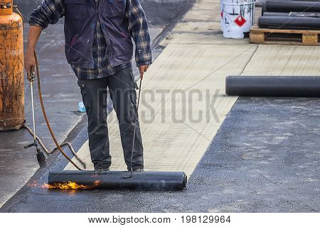 Insulation Tar Material Over Concrete Slabs 4