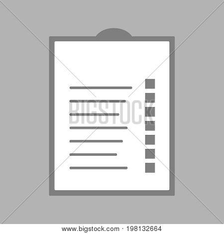 Document icon of simbol. Flat vector illustration EPS10.