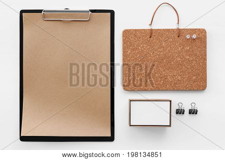 Clipboard And Stationery Mockup