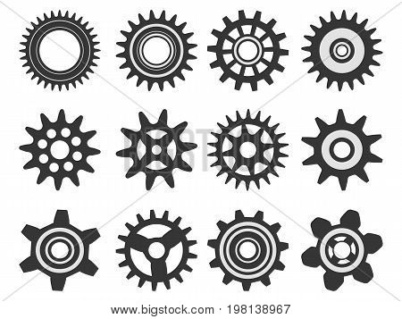 Gears Isolated On White