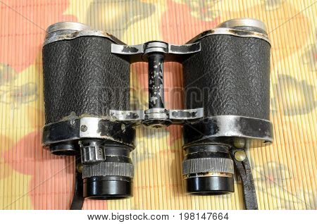 Old Soviet army binoculars with an infrared sensor.