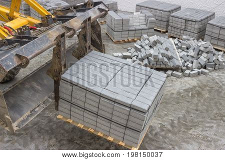 Concrete Stones For The Sidewalk Pavement 3