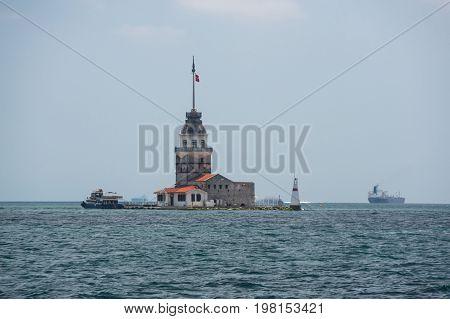 Maiden's Tower (Leander's Tower) on Bosphorus in Istanbul Turkey