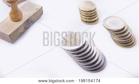 Old rubber stamp needed for contract to earn money