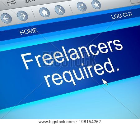 Freelancers Required Concept.