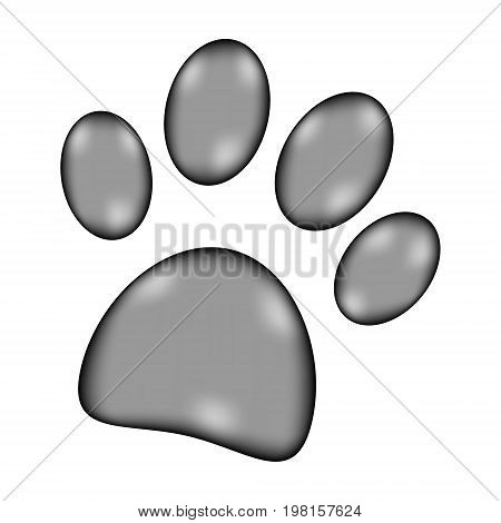 Paw sign icon on white background. Vector illustration.
